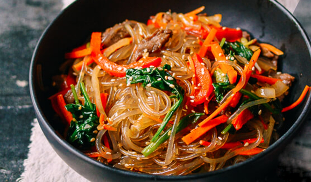 Japchae Korean Noodle Dish Recipe