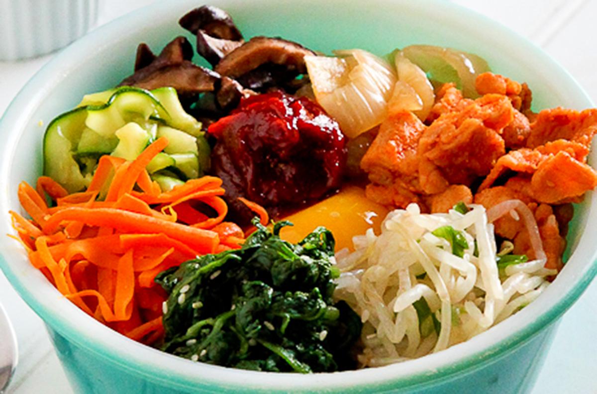 Spicy & Sweet Tocino Pork BibimbapRecipe